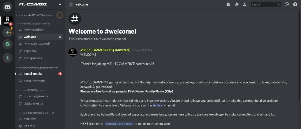 MTL + Ecommerce - Discord